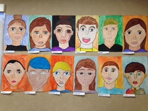 8th Grade Self Portraits