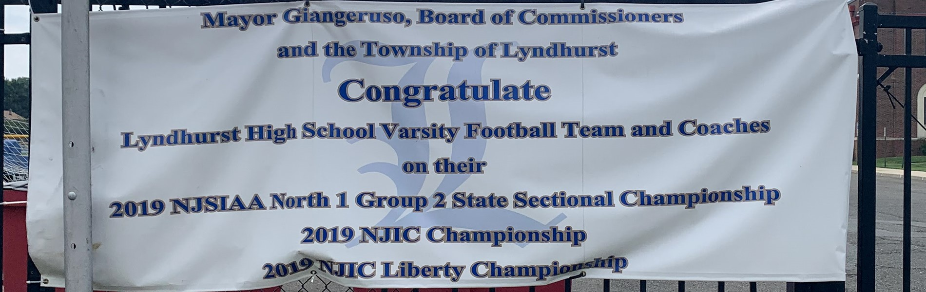 LHS Football sign