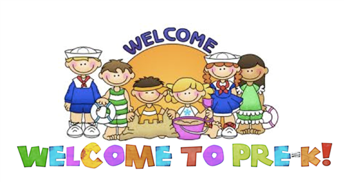 welcome to pre k sign and students